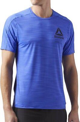 Professioneller Verkauf Reebok Activchill Graphic Short Sleeve Mens Training Top - Blue