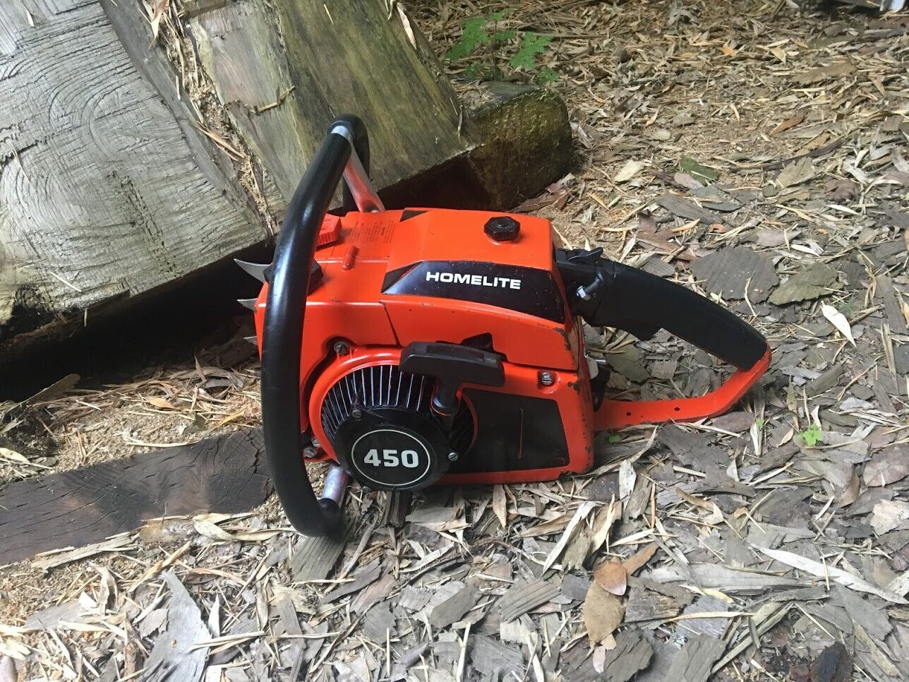 RARE NEAR MINT WEST COAST HOMELITE 450 CHAINSAW POWERHEAD--FREE SHIPPING. Available Now for 1099.99