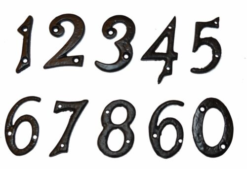 Door 37210-9 Numerals in Black Cast Iron 54mm SPECIAL OFFER House Numbers