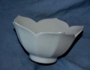 Vintage OMC Otagiri White Porcelain Leaf Dish Vase Japan Original Tag