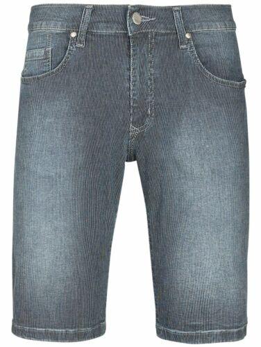PIONEER Stretch Bermuda Pantaloncini 9530.14.1337 DARK USED//Blu//Bianco a Strisce