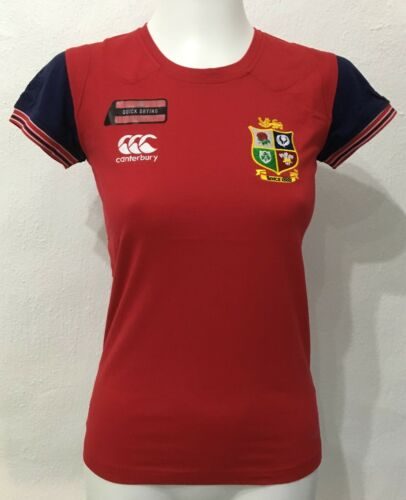 BRITISH AND IRISH LIONS COTTON TRAINING TEE SHIRT RED BY CANTERBURY LADIES UK10