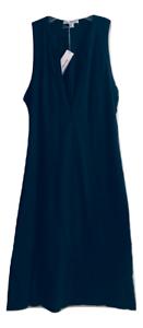 James Perse  Henley Sleeveless Tunic Tank Carbon Dress Mult Sz