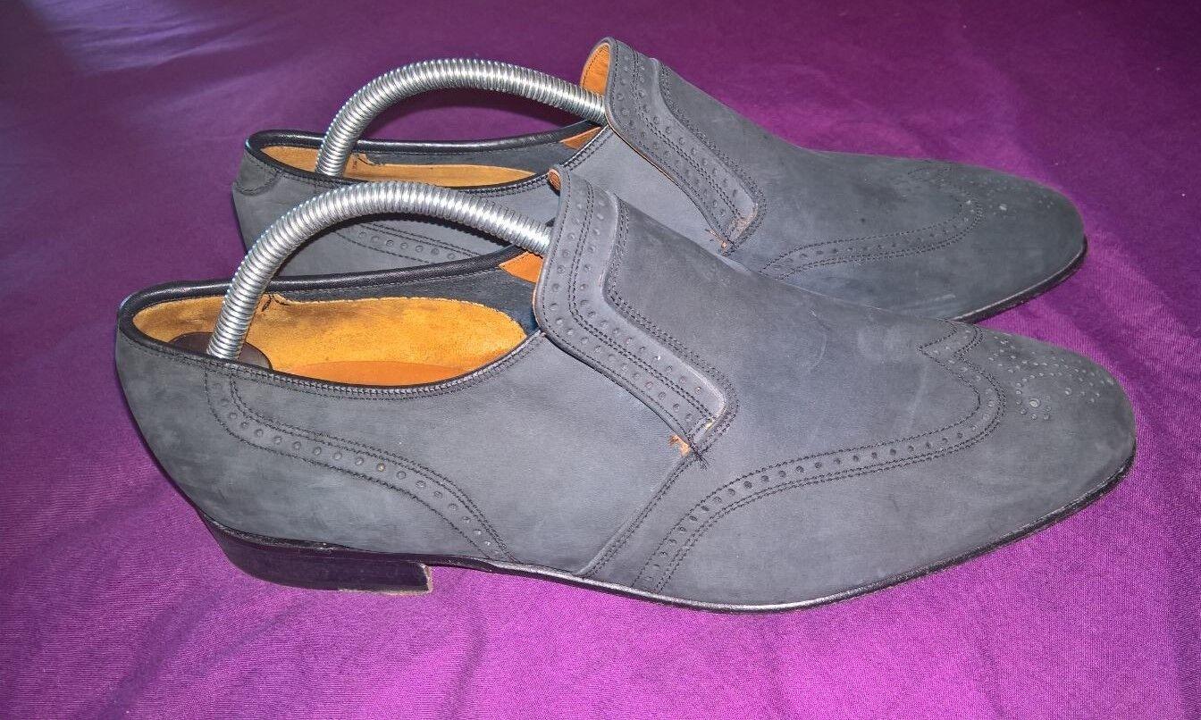 Splendido Barker di Earls Barton CALATA Mocassini scarpe * uomo in pelle scamosciata * scarpe Taglia uk 10 716026