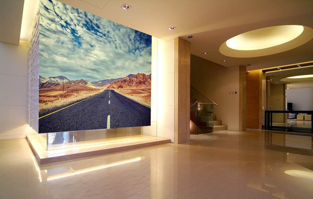 3D Highway Clouds 45 Wall Paper Wall Print Decal Wall Deco Indoor Wall Murals