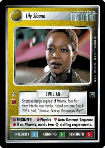 Star Trek CCG FC First Contact Lily Sloane