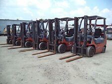 "2002 - 07 Toyota Model 7FGCU20, 4,000#, 4000# Cushion Tired Forklift, 117"" Lift"