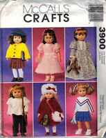 Doll Clothing Patterns 18 Wardrobe Coat Nightgown Top Cardigan 3900
