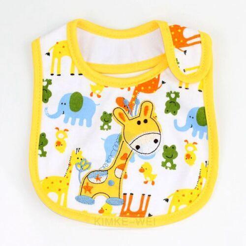 Wasserdicht 3 Schichten Füttern Lätzchen Kind Baby Speichel Handtuch 0-3 Jahre