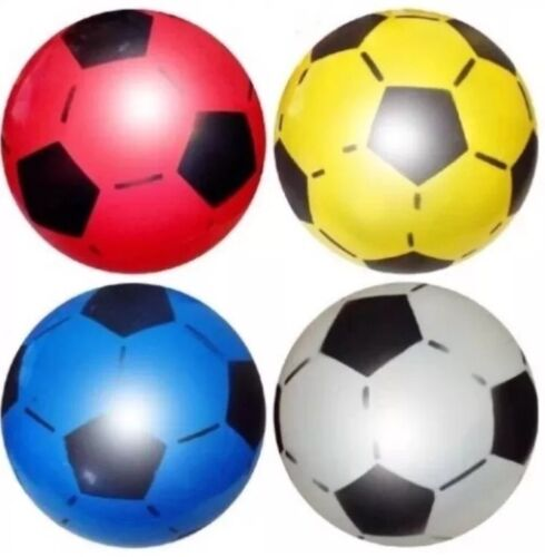 24x PLASTIC PVC FOOTBALLS Flat Packed Uninflated Wd Free Football Pump UK SELLER