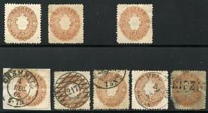 GERMANY-STATES-SAXONY-SCOTT-19-MICHEL-18a-2-HINGED-1-NO-GUM-4-USED-AS-SHOWN