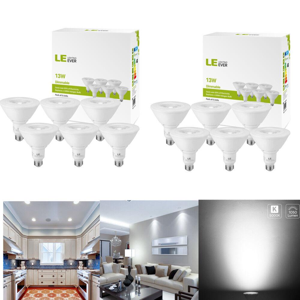 12 x PAR38 LED Bulb 13 Watt (100W Equiv) 1050 Lumens 5000K Daylight White E26