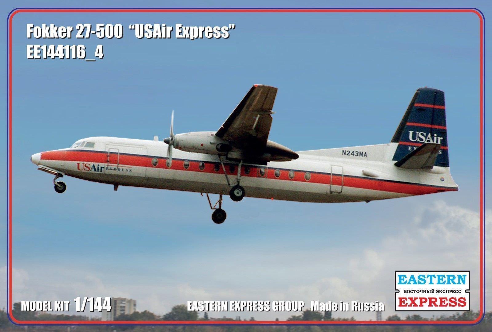 Eastern Express 1  144 Fokker F27 -500 Vänskap USAir Express modellllerler Kit