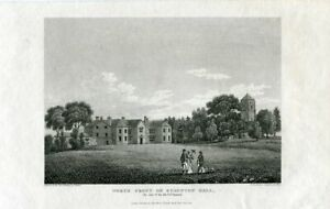 North-Front-Of-Staunton-Hall-Engraving-By-Hay-Of-A-Drawing-Of-T-Barber