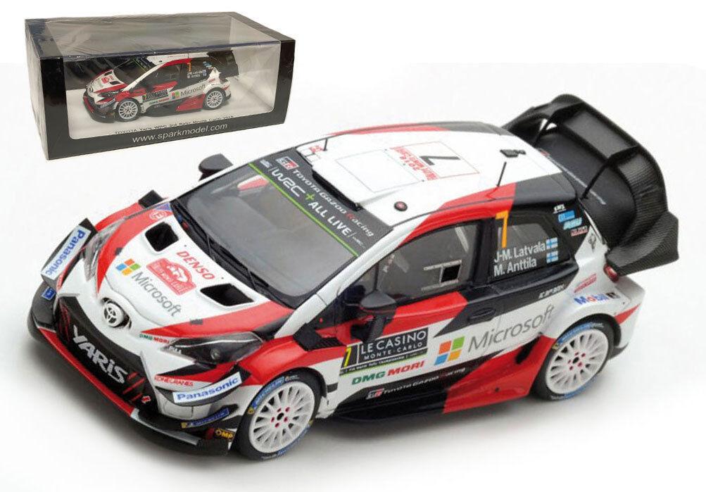 SPARK S5957 TOYOTA YARIS WRC  7 3rd Monte Carlo 2018-J M Latvala échelle 1 43
