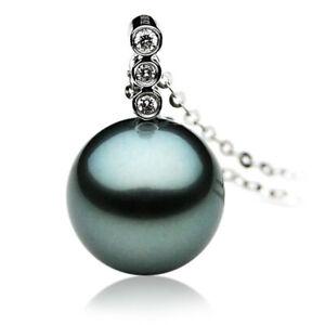 Pacific-Pearls-Genuine-11mm-Tahitian-Black-Pearl-Diamond-Pendant-Birthday-Gifts