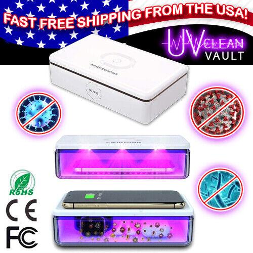 UV CLEAN VAULT LIGHT Phone Wireless Charge Sanitizing BOX Germ bacteria virus