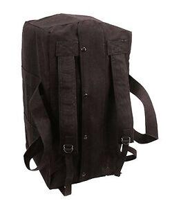 9d9f750e4f Black Tactical Cargo Bag - Mossad Type Canvas Duffle Bags Equipment ...