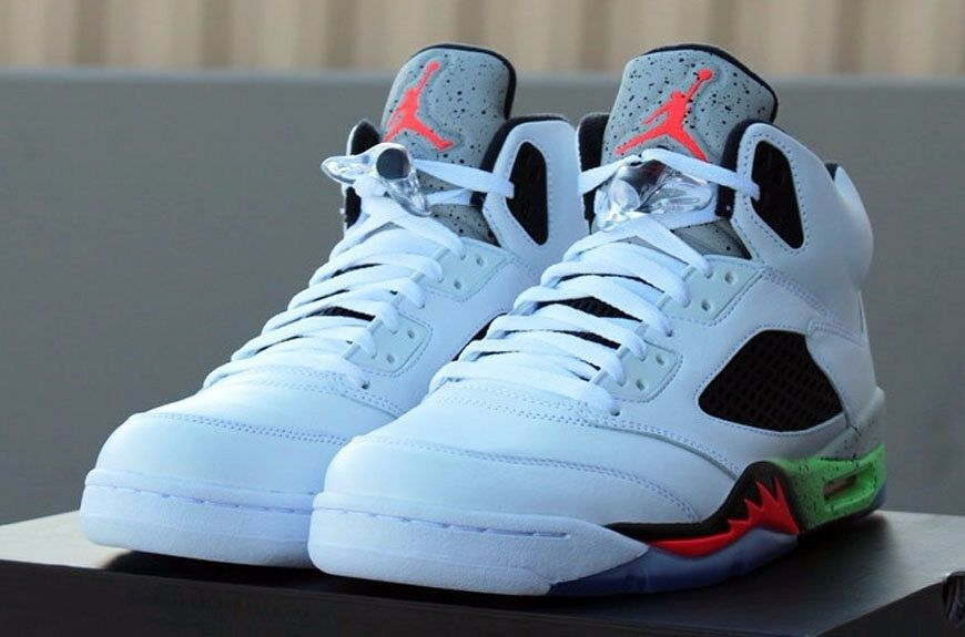 Mens Nike Air Jordan Hare 'Infrared' 5 Sz 9.5 White Black Cement 100% Authentic Comfortable and good-looking