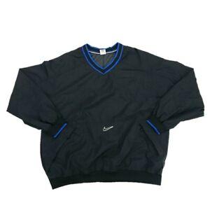 Vintage-90s-Nike-Pullover-Windbreaker-Jacket-Mens-2XL-Center-Swoosh-Check-Logo