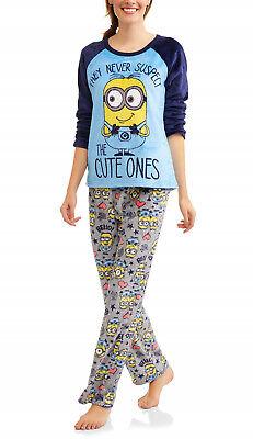 Minion Womens Pajamas Size Medium Plus 2X 3X Soft Fleece Winter Set 20,22,24 NEW