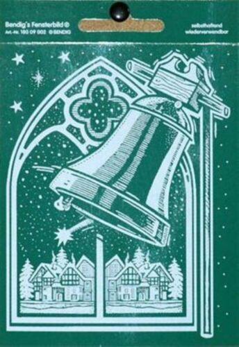 Fensterbild Weihnachtsfenster mit Glocke 11,5 x 14,5 cm