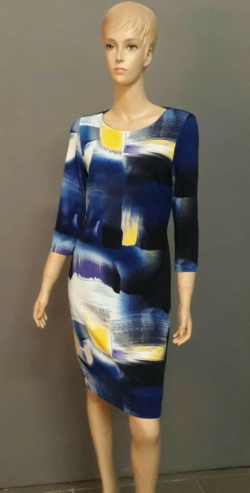 Damen Kleid Etuikleid Gr. 34 Frank Lyman Mehrfarbig
