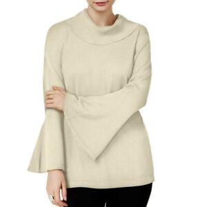 ALFANI-NEW-Women-039-s-Bell-sleeve-Cowl-Neck-Sweater-Top-TEDO