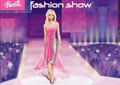Barbie Fashion Show PC CD girl designer outfits fabric clothing hair model Win7