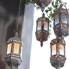 Moroccan Glass Lantern Tea Light Candle Style Holder Hanging Home Decor