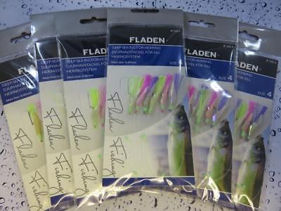 6 Packs of 5 Hook Herring /& Mackerel Feathers
