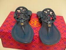 Women's tory burch slippers greek blue  miller veg nappa size 7 us new with box
