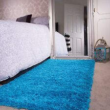 Item 4 Teal Blue Shaggy Rug Non Shed Thick 50mm Pile Soft Fluffy Bedroom Rug  Kids Rugs  Teal Blue Shaggy Rug Non Shed Thick 50mm Pile Soft Fluffy Bedroom  ...