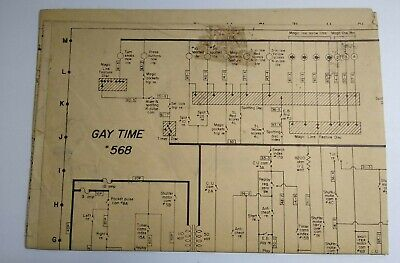 gay time bally 1955 original bingo pinball machine wiring diagram ...  ebay
