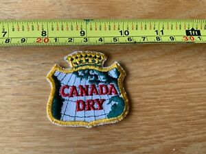 Canada-Dry-Soda-Ginger-Ale-Beverage-Logo-Souvenir-Embroidered-Patch
