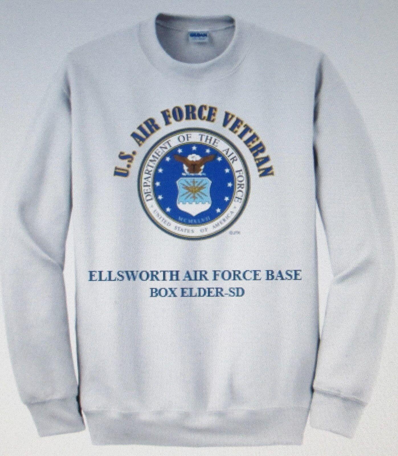 ELLSWORTH AIR FORCE BASE BOX ELDER-SD U.S. AIR FORCE EMBLEM SWEATSHIRT