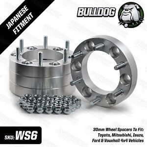 Bulldog-Wheel-Spacers-4-x-30mm-6-Stud-fits-Ford-Ranger-Toyota-Hilux-All-Years