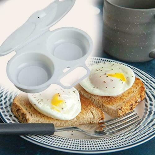 1 x Microwave Egg Poacher Saves Time Eggs Made Easy Mess No Shipping Free F0X4
