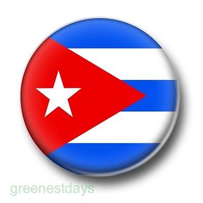 25mm Pin Button Badge Cuban National Flag Havana Socialist Cuba Flag 1 Inch