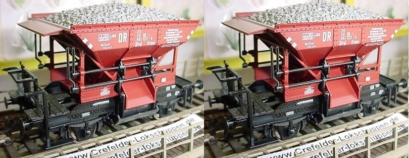 Roco 56247 2xTalbot Self-Unloading Wagon Optional Wheelsets for Märklin Nip