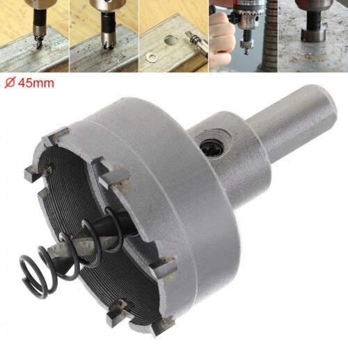 45MM Carbide Cutter Head HSS Drill Set Hole for Stainless Steel  Alloy  Cutter