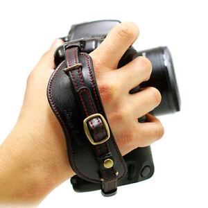 HORUSBENNU-DSLR-Camera-Universal-Leather-Wrist-Hand-Grip-Strap-w-Manfrotto-Plate