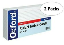Oxford 51 5 X 8 Ruled Index Cards White 100pack 2 Pack