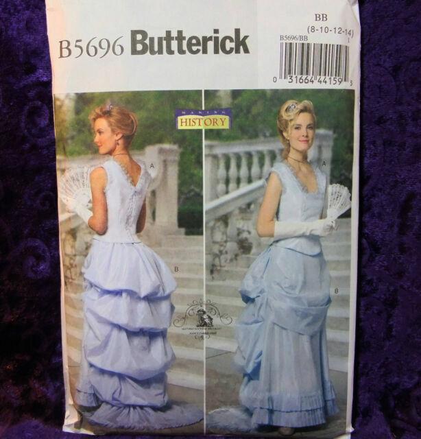 Butterick B6305 STEAMPUNK Historical Corset Top /& Skirt w Bustle Pattern 8-14