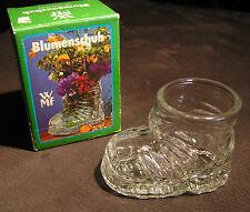 WMF Blumenschuh Blumenvase Tischvase, Glas, 8cm hoch, Rarität 70er 80er, NEU+OVP