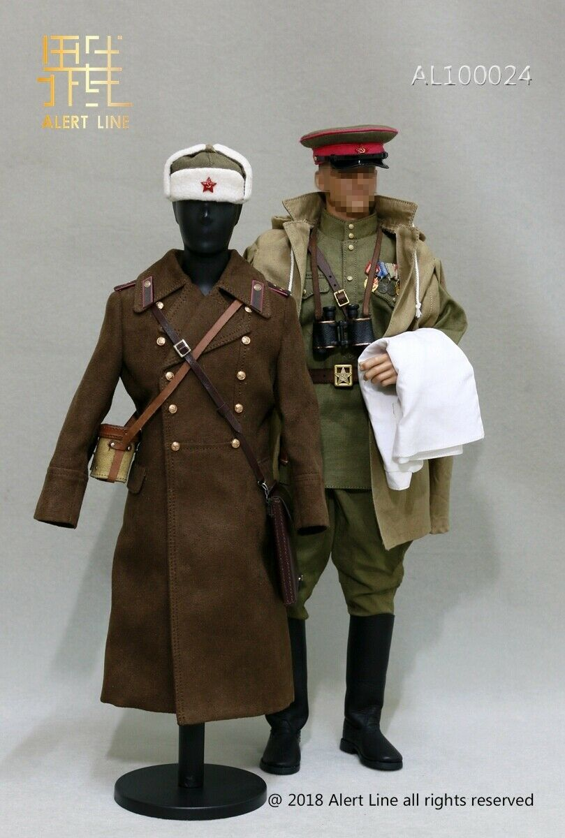 Alert Line 1 6 WW2 1944Red Army Infantry Senior Lieutenant Officer Set F12''Doll