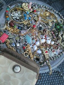 New Listing HUGE! Vintage to Now JUNK DRAWER Estate Jewelry Lot Unsearched w/ Coach wallet