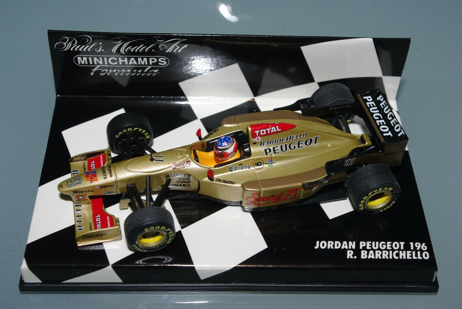 Minichamps F1 1 43 JORDAN PEUGEOT 196 Barrichello