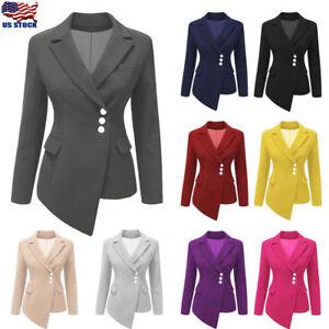 Slim-Asymmetrical-Women-Suit-Coat-Buttons-Long-Sleeve-Ladies-Short-Casual-Jacket