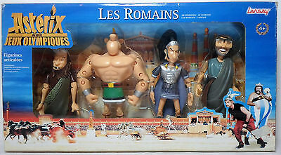 ASTERIX AT THE OLYMPIC GAMES THE ROMANS  6/'/' FIGURE MINT MIB BOX SET